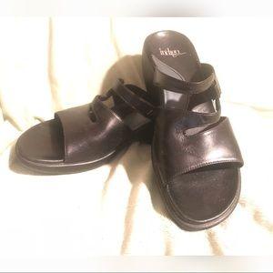 Indigo by Clarks Black Sandals 8